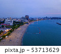 Aerial view of boats in Pattaya sea, beach at 53713629