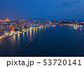 Aerial view of boats in Pattaya sea, beach at 53720141