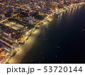 Aerial view of boats in Pattaya sea, beach at 53720144