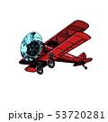 retro biplane aircraft 53720281