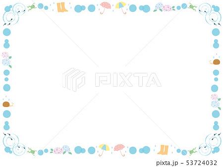 フレーム素材-水玉とカエルと傘 53724032