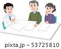 相談する夫婦 医師 53725810