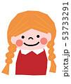 女の子 少女 子供のイラスト 53733291