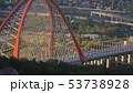 Beautiful view of Bugrinskiy bridge in Novosibirsk 53738928