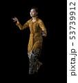Indonesian Girl Performing Javanese Dance 53739912