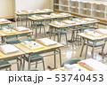 小学校 入学式の日の教室 53740453
