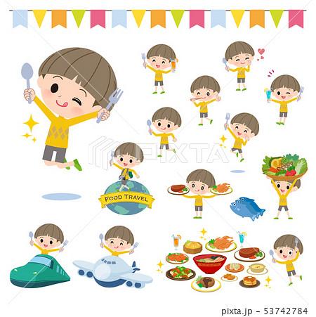 Yellow clothing boy_food festival 53742784