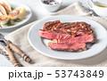 Grilled beef steak 53743849