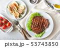 Grilled beef steak 53743850