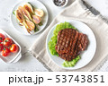 Grilled beef steak 53743851