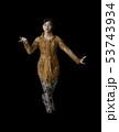 Indonesian Girl Performing Javanese Dance 53743934