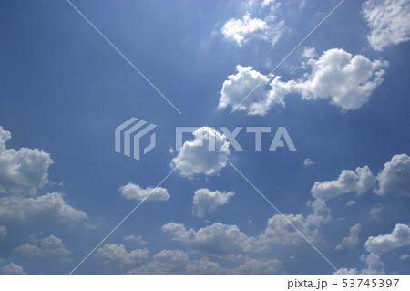 blue sky and clouds sky 53745397