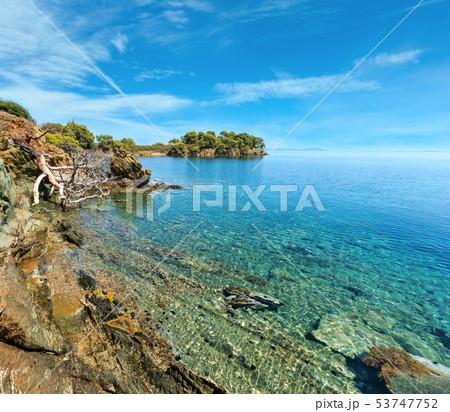 Morning Aegean coast, Sithonia, Greece. 53747752