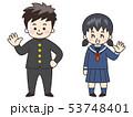 学生 男の子 女の子のイラスト 53748401