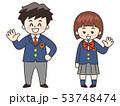 学生 男の子 女の子のイラスト 53748474