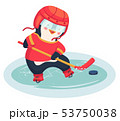 penguin play ice hockey in the winter 53750038