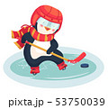 penguin play ice hockey in the winter 53750039