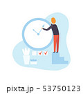 Businessman Stopping Arrow Clock, Man Planning, Organizing Working Time, Business Concept of Time 53750123