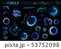 Circle Charts, Pie Charts, Donut Charts, Radial charts and Gauge Charts Infographic Elements 53752098