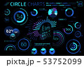 Circle Charts, Pie Charts, Donut Charts, Radial charts and Gauge Charts Infographic Elements 53752099