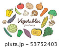 野菜ペン画カラー 53752403