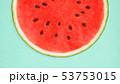 背景-夏-スイカ-ブルー 53753015
