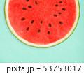 背景-夏-スイカ-ブルー 53753017