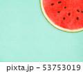 背景-夏-スイカ-ブルー 53753019