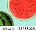 背景-夏-スイカ-ブルー 53753025