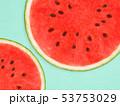 背景-夏-スイカ-ブルー 53753029