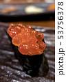 イクラ軍艦巻き 単品 接写 北海道 札幌 冬 赤 黒 単品 皿 海苔 縦 53756378