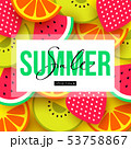 Summer sale background with fruit and berry pieces 53758867