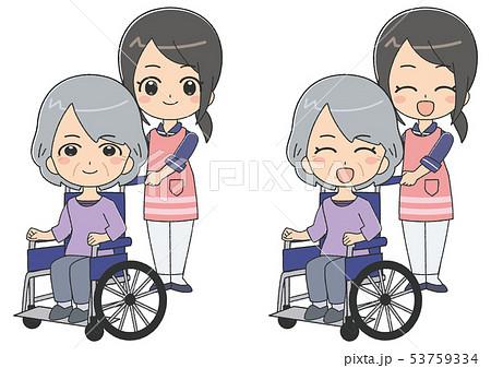 女介護士 シニア 女性 53759334