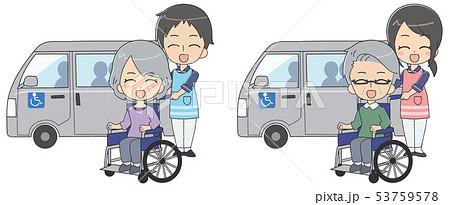 介護士 シニア 笑顔 53759578
