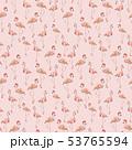 フラミンゴ 水彩画 鳥のイラスト 53765594