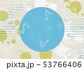 背景素材-夏イメージ-丸窓-水玉-水草 53766406