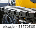 track equipment installed on a tractor, excavator  53770585
