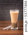 タピオカミルクティー 台湾 飲み物の写真 53777866