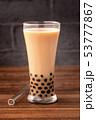 タピオカミルクティー 台湾 飲み物の写真 53777867