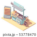 Vector isometric retail kiosk or cart stand 53778470