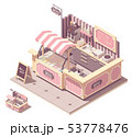 Vector isometric ice cream kiosk 53778476