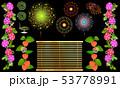 朝顔と花火 53778991