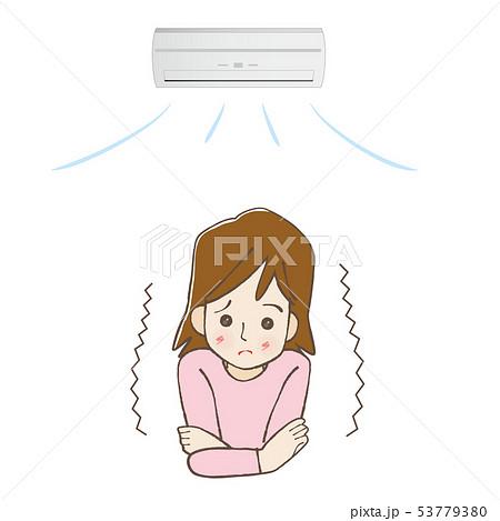 エアコン 寒がりな女性 53779380