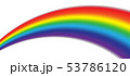 Colorful realistic multicolored rainbow. Natural 53786120
