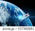 地球と飛行するシャトル 53786881