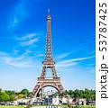 パリ エッフェル塔 塔の写真 53787425