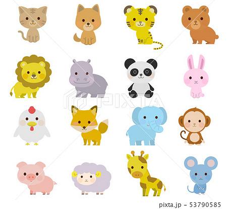 かわいい動物の全身 イラストのイラスト素材 53790585 Pixta