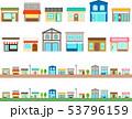 いろいろな店のイラストセット 53796159