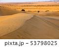 Sand dunes under blue sky 53798025