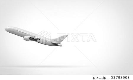 飛行機 離陸 側面 左 53798903
